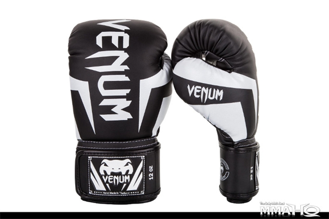 Venum Elite Boxing Gloves - BlackWhite